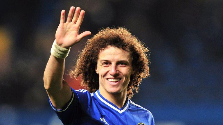 David Luiz waves following victory against Swansea City at Stamford Bridge
