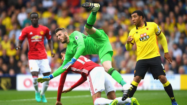 David de Gea and Chris Smalling collided, presenting Odion Ighalo with a golden opportunity