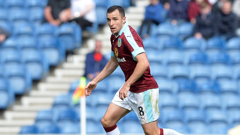 GLASGOW, SCOTLAND - JULY 30: Dean Marney of Burnley in action during a pre-season friendly between Rangers FC and Burnley FC at Ibrox Stadium on July 30, 2