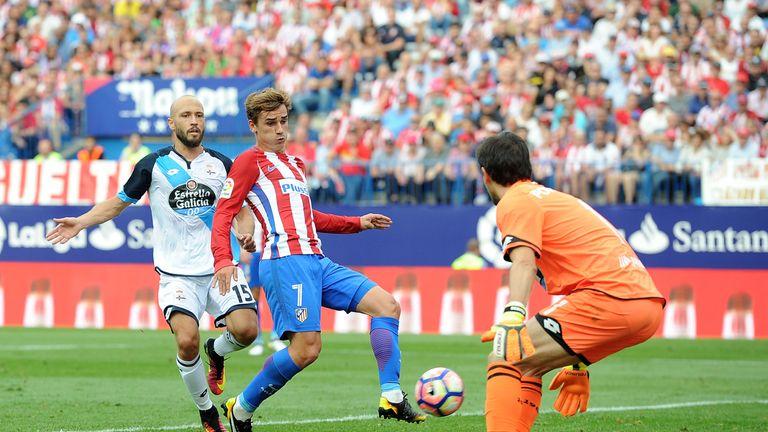 Antoine Greizmann scores Atletico Madrid's winner