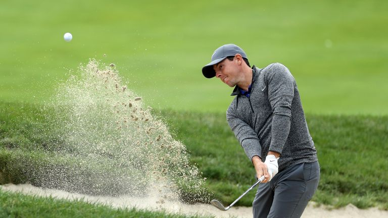 McIlroy's brilliant bunker play was a feature of his round