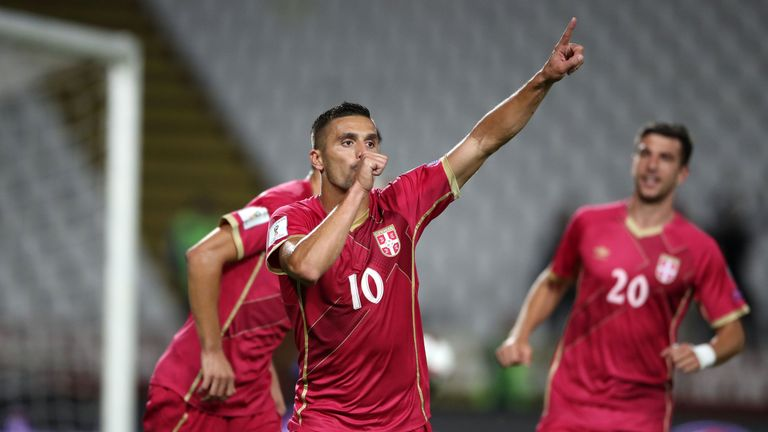 Dusan Tadic scored from the spot but Serbia couldn't hold on for the win