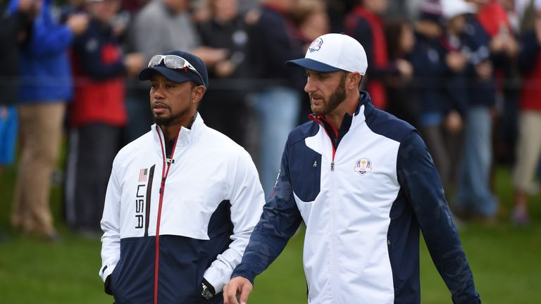 Woods cannot keep up with the power of the likes of Dustin Johnson