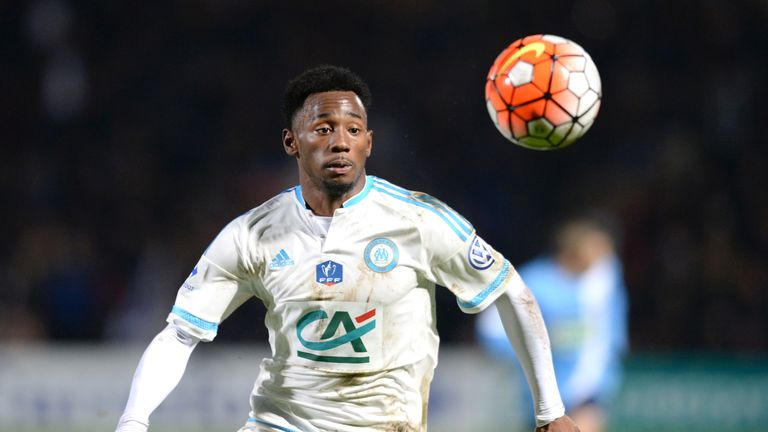 Georges-Kevin Nkoudou chases the ball during the French Cup