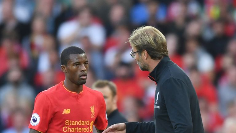 Georginio Wijnaldum (left) says it did not take him long to decide to sign for Jurgen Klopp and Liverpool