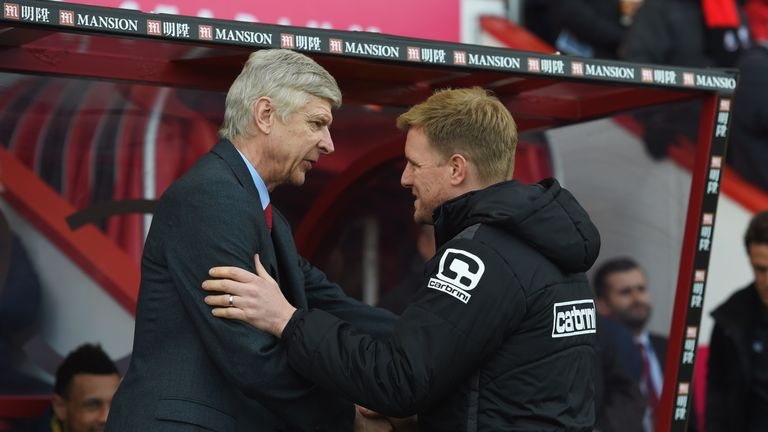 Arsenal have had a big influence on Eddie Howe's management style