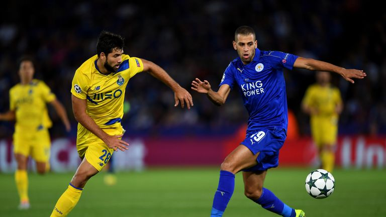 Slimani challenges for possession