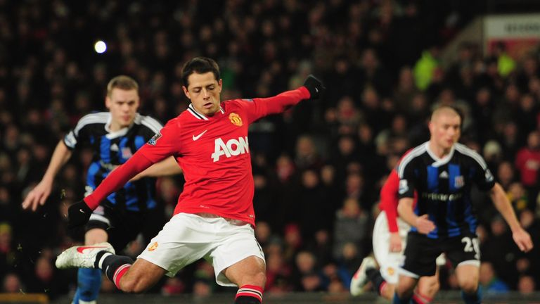 Chicharito left United to join Bayer Leverkusen for £7.3m in 2015