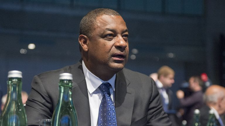 Jeffrey Webb, President of CONCACAF and the Cayman Islands Football Association and FIFA Vice President, attends the XXXIX Ordinary UEFA Congress in Vienna