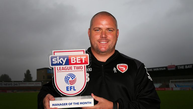 Morecambe boss Jim Bentley guided his side to top spot in the Sky Bet League Two table with four wins from five in August