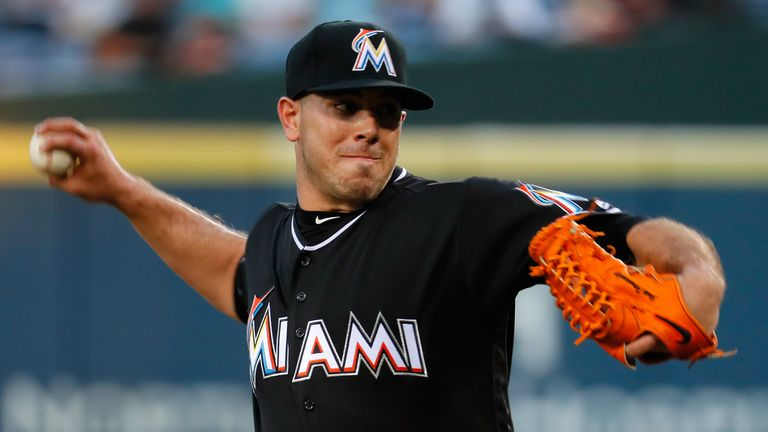 Jose Fernandez in action for Miami Marlins earlier this month
