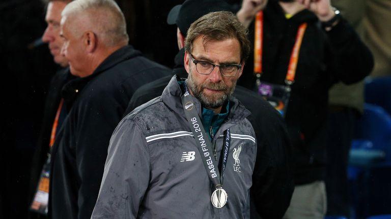 Liverpool manager Jurgen Klopp after the UEFA Europa League Final at St. Jakob-Park, Basel, Switzerland