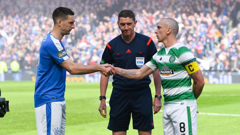 Lee Wallace will take his Rangers side to face Scott Brown and Celtic