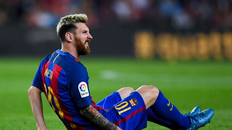 Lionel Messi remains sidelined for Barcelona after his injury against Atletico Madrid