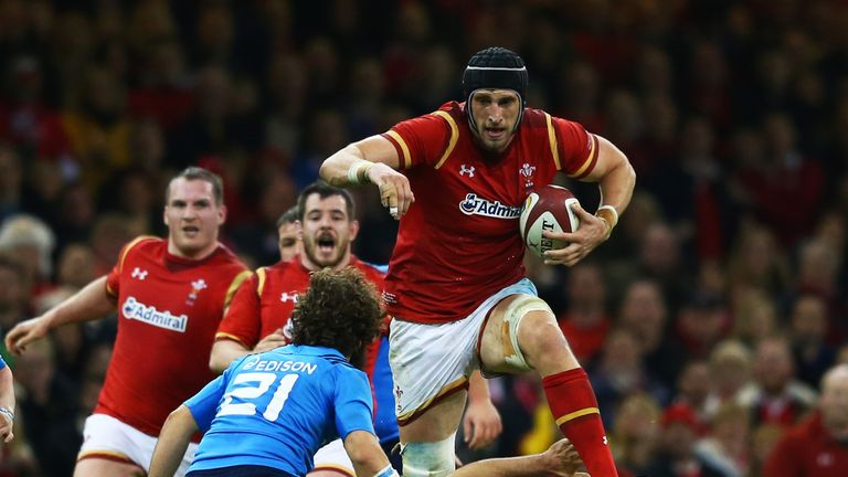 Luke Charteris misses out with a fractured hand but could feature against England