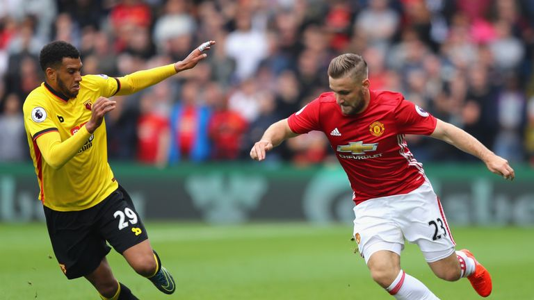 Luke Shaw was criticised by Jose Mourinho following Manchester United's defeat at Watford