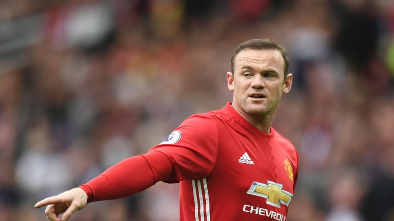 Wayne Rooney in action for against Leicester City at Old Trafford