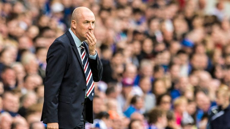 Rangers manager Mark Warburton looks on against Ross County