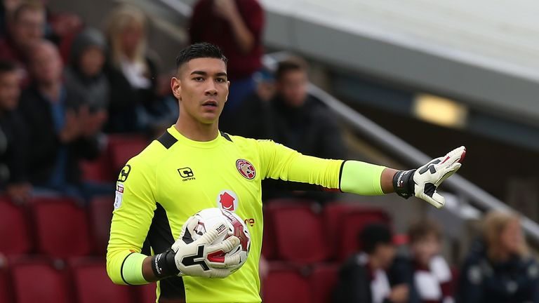 Neil Etheridge was the star man in goal for Walsall