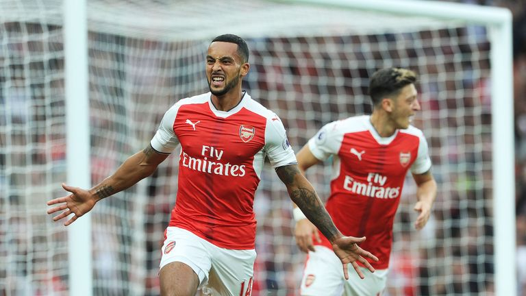 Theo Walcott finished from Hector Bellerin's cross for the second