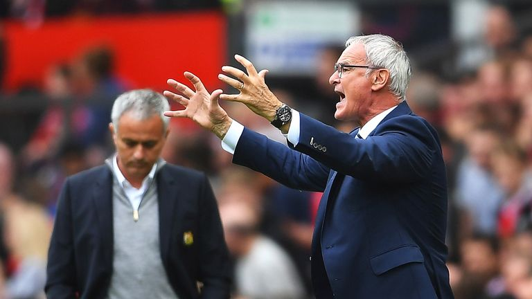 Claudio Ranieri was not happy with what he saw at Old Trafford