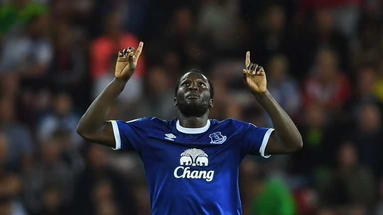 Romelu Lukaku netted a hat-trick for Everton in their Premier League match against Sunderland