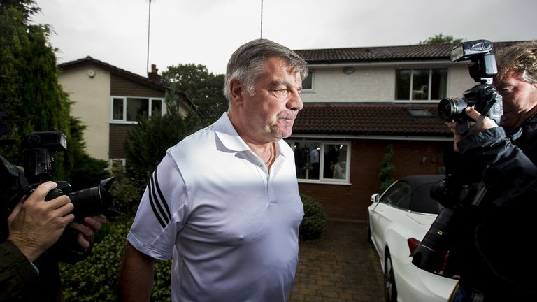 Sam Allardyce leaves his home the day after losing his job as England manager