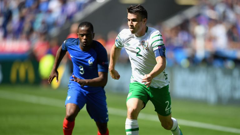 Seamus Coleman is fit to join Republic of Ireland training ahead of the qualifier