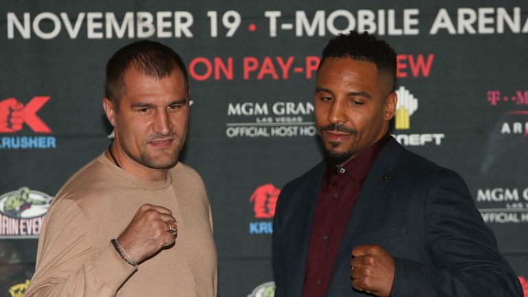 Kovalev (left) and Ward during the press conference