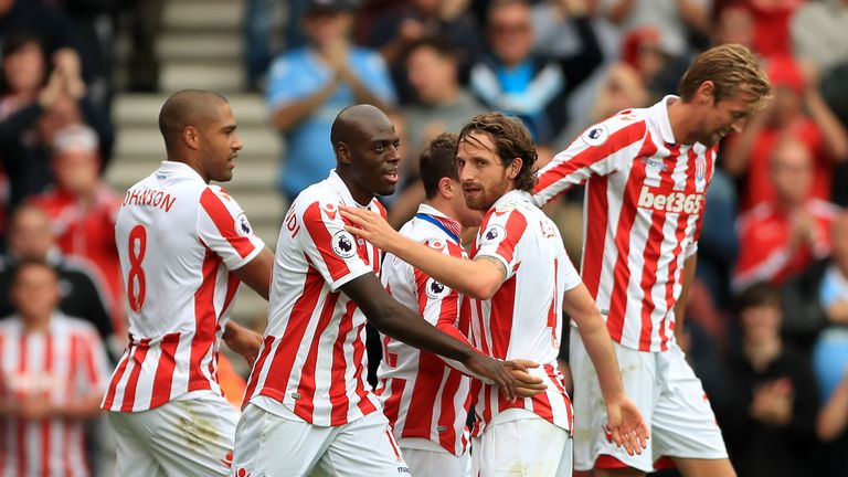Joe Allen looked to have won it for Stoke with his second-half goal