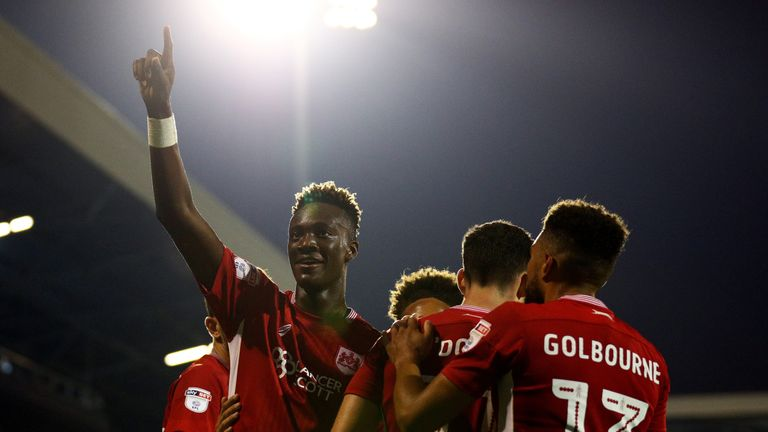 Abraham has scored seven goals in 10 games for Bristol City