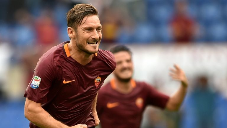 Francesco Totti was on the scoresheet once again for Roma