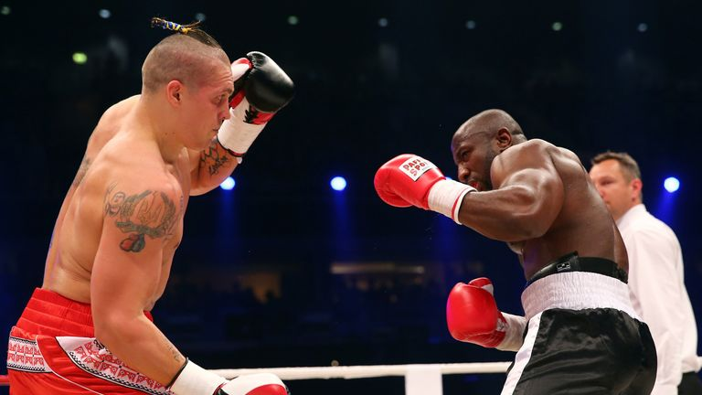 Oleksandr Usyk (l) could win a world title in his 10th professional fight