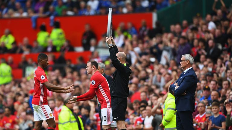 Rooney has started from the substitutes' bench in each of Manchester United's last three matches