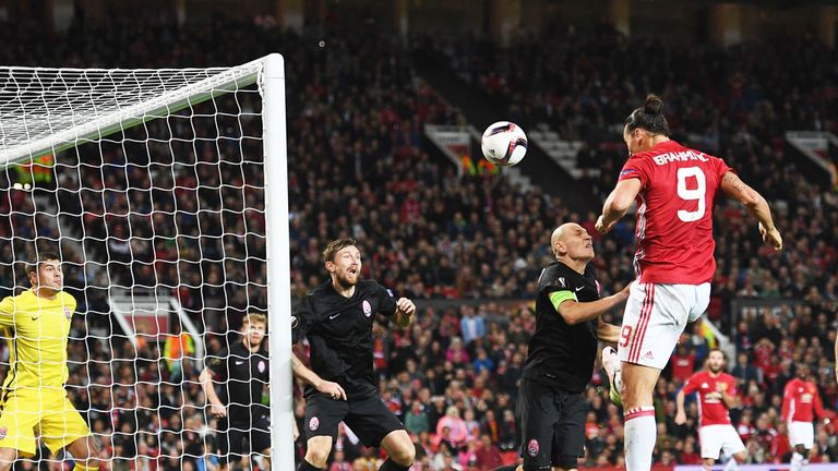 Ibrahimovic scored Manchester United's winner against Zorya Luhansk