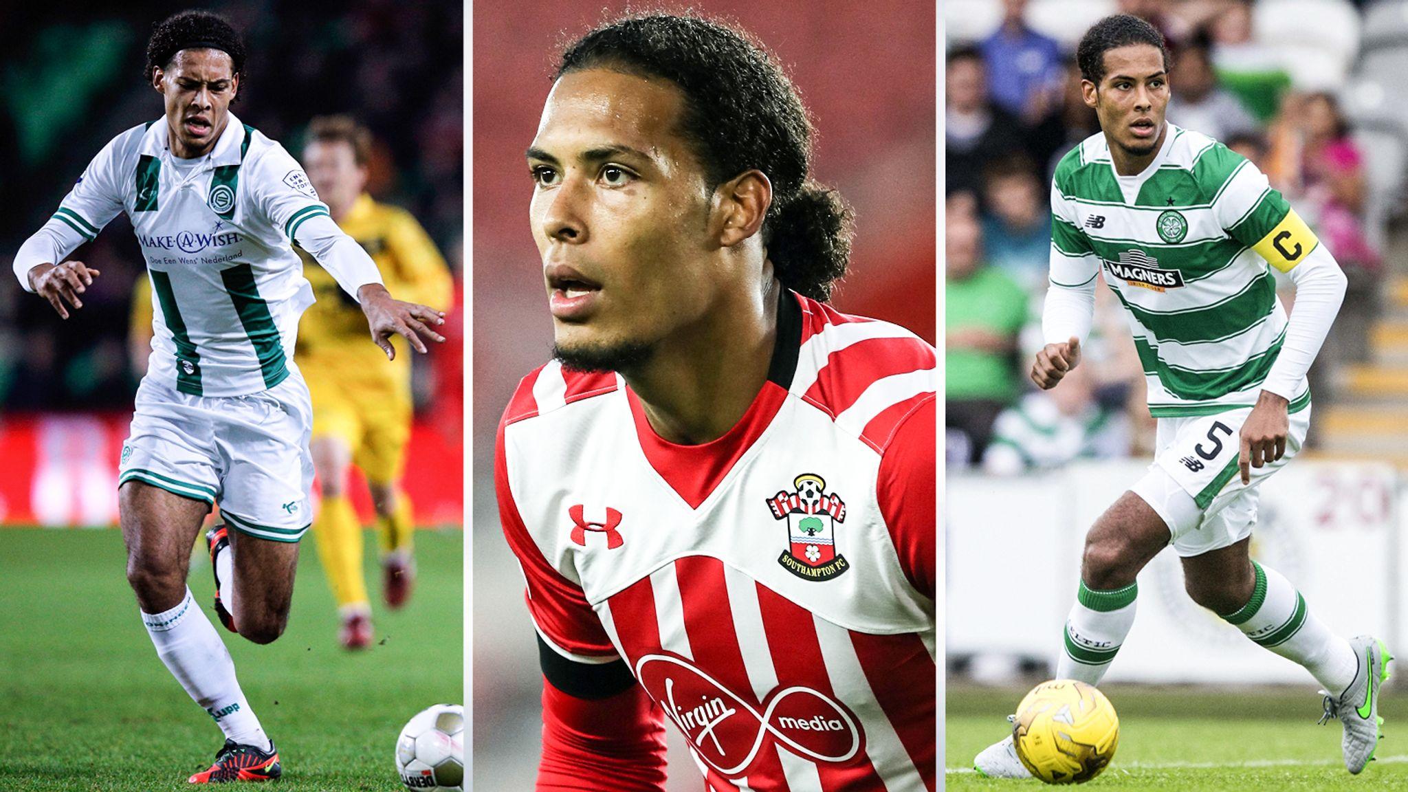 Virgil Van Dijk S Journey From Fc Groningen To Premier League Star Football News Sky Sports