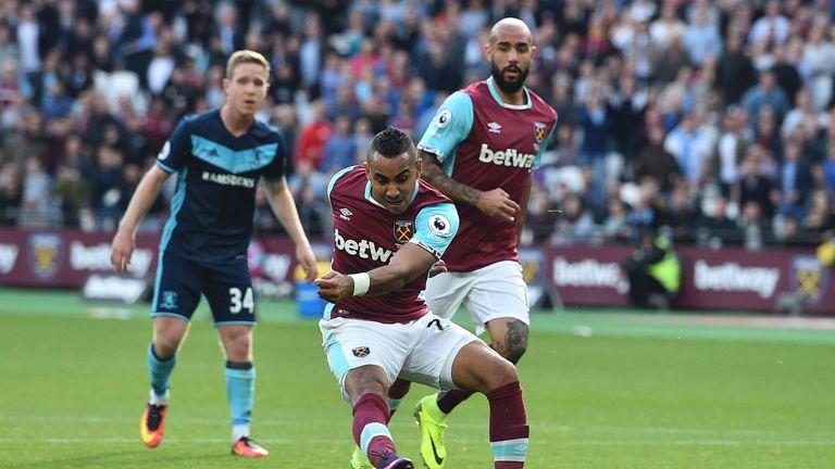 Dimitri Payet (C) scores for West Ham