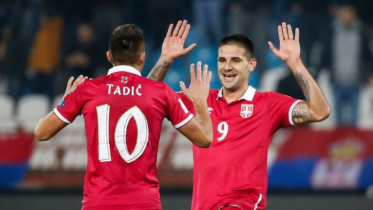 Serbia duo Dusan Tadic and Aleksandar Mitrovic will be key players on Saturday