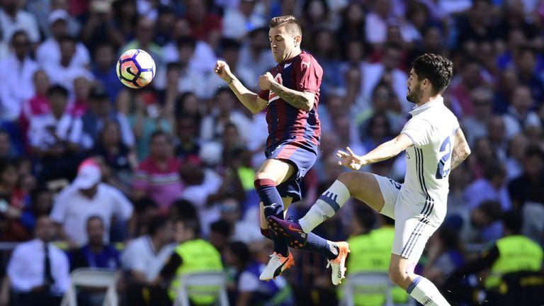 Fran Rico put Eibar ahead