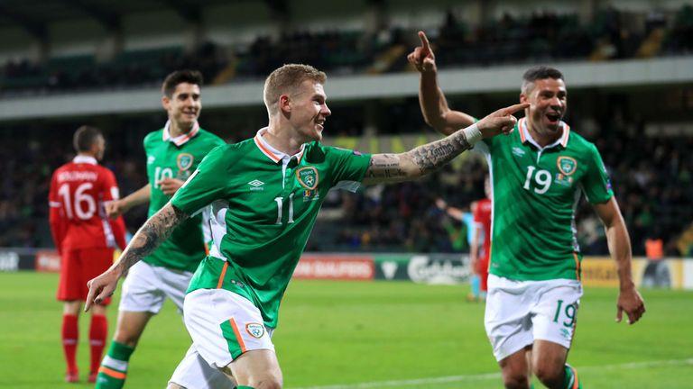 Republic of Ireland's James McClean celebrates