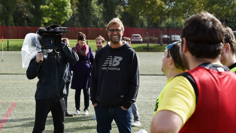 Klopp is an active supporter of the Seeing is Believing charity initiative