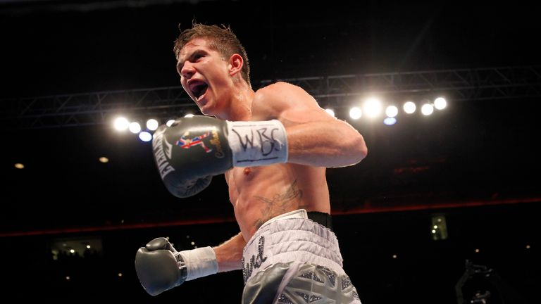 Luke Campbell celebrates victory and will now look to move on to a world title shot