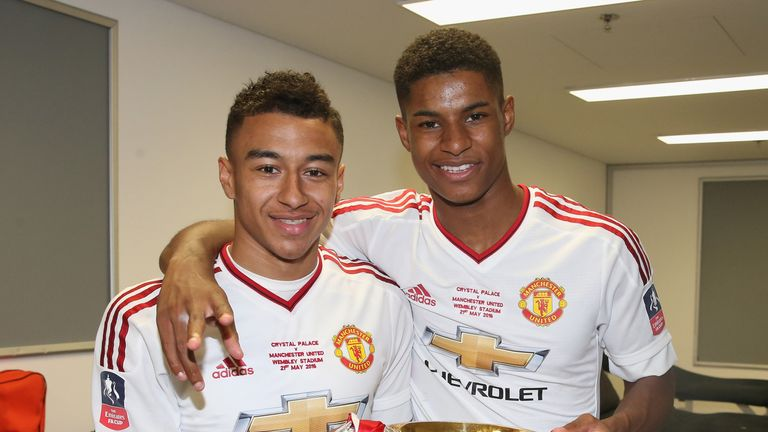 low priced 2cb75 e302c Man Utd pair Jesse Lingard and Marcus Rashford named in ...