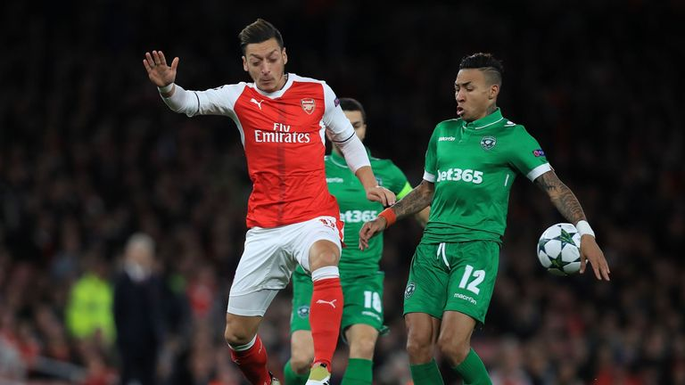 Ozil is put under pressure Anicet Andrianantenaina