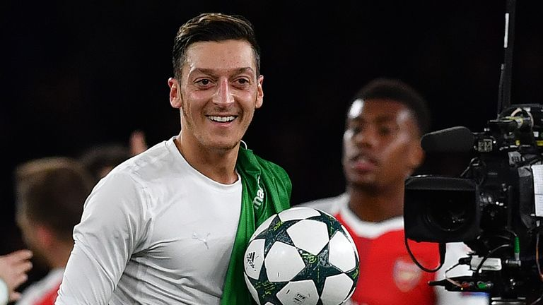 Mesut Ozil after his hat-trick