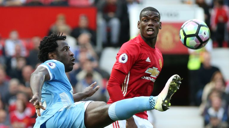 Paul Pogba (R) wasn't at his best for United