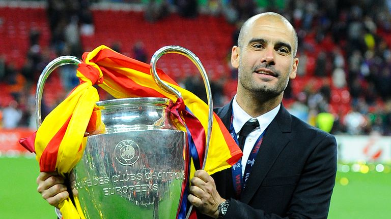 Guardiola later led Barcelona to two Champions League titles, including the 2011 version against Manchester United
