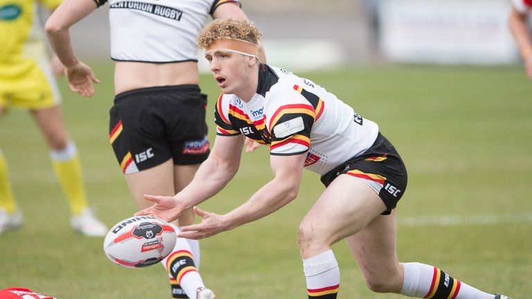 Adam O'Brien, pictured in action for Bradford last season, scored two tries in the opening 22 minutes against Sheffield