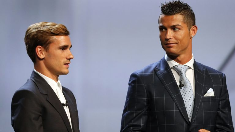 Antoine Griezmann finished runner-up to Cristiano Ronaldo for the UEFA Best Player in Europe award