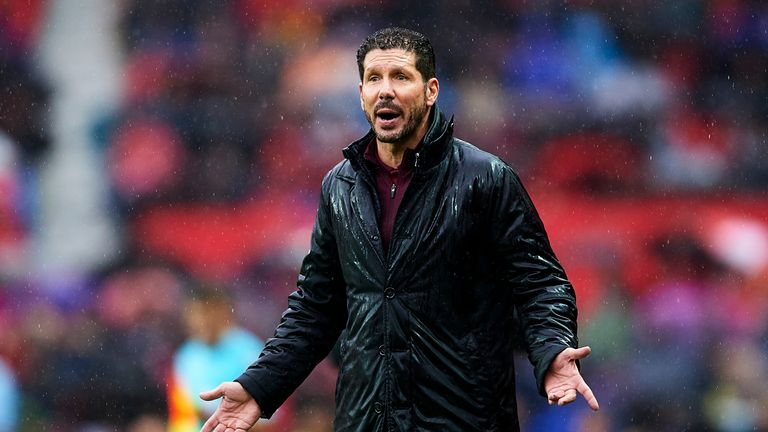 Diego Simeone was furious with his side